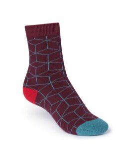 dikke sokken bordeaux