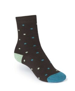 dikke sokken moerasgroen gestipt