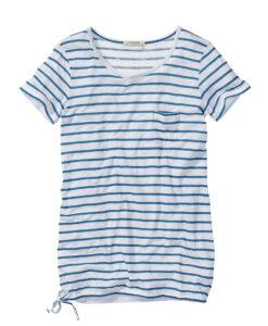_T-Shirt Patch Pocket_TENCEL MIX_petrol-white
