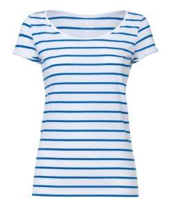 Damen-T-Shirt-Gestreift-White-Blue-Bio-und-Fair-2749
